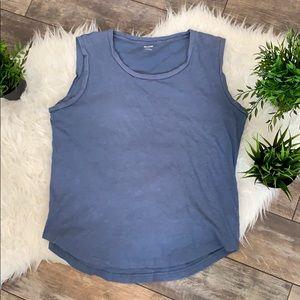 Madewell muscle tank - blue size medium